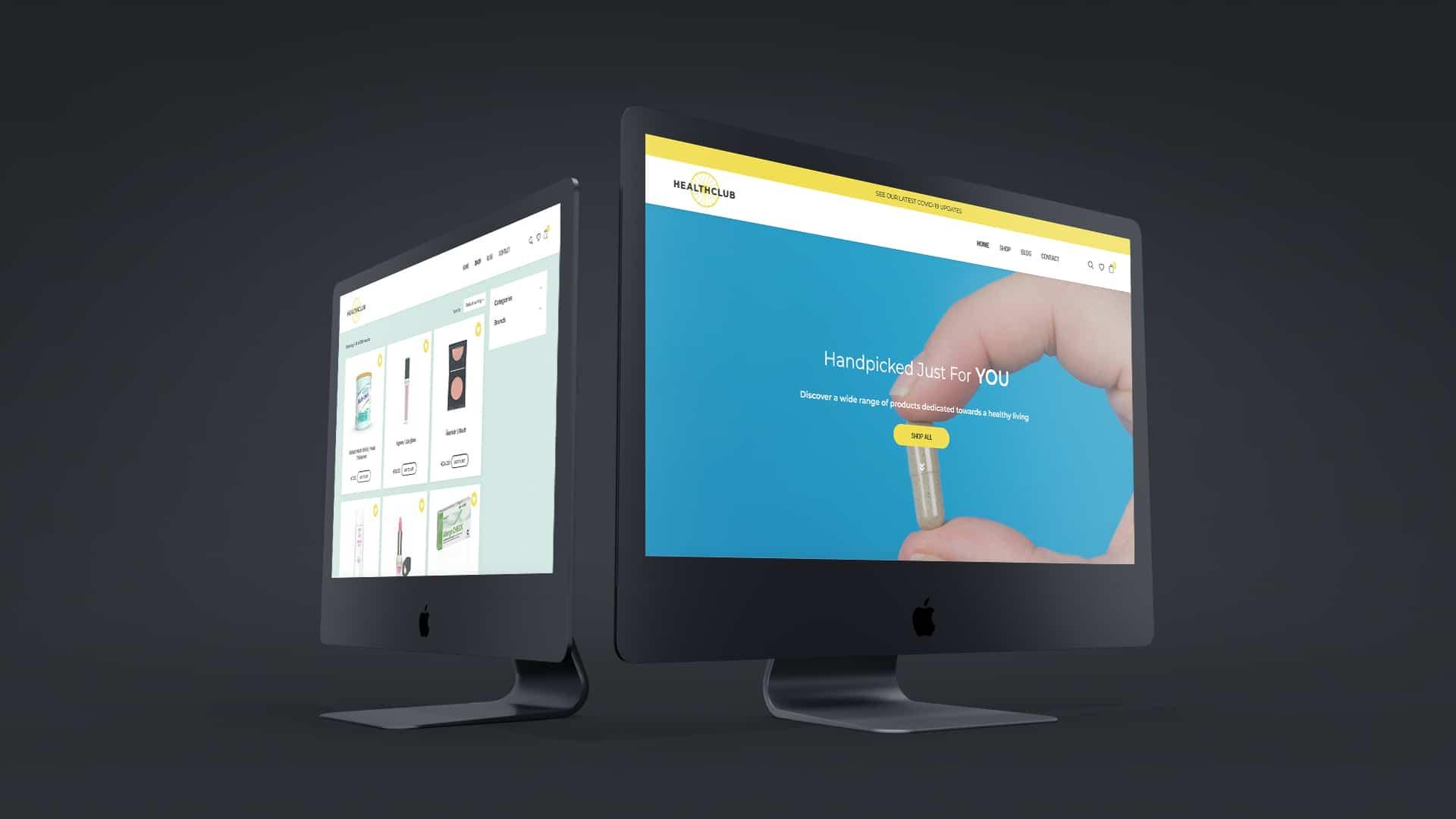 Health Club ecommerce theme development website design