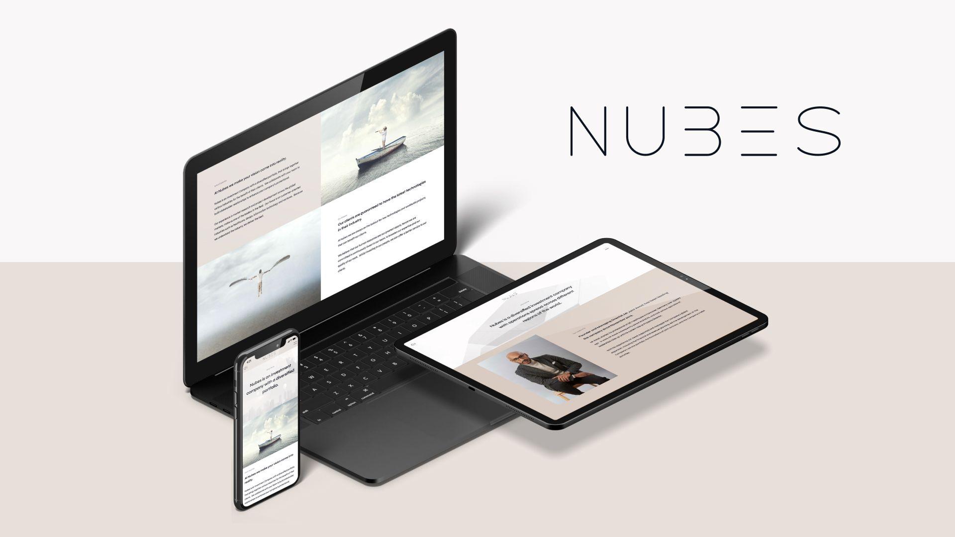 nubes corporate website homepage