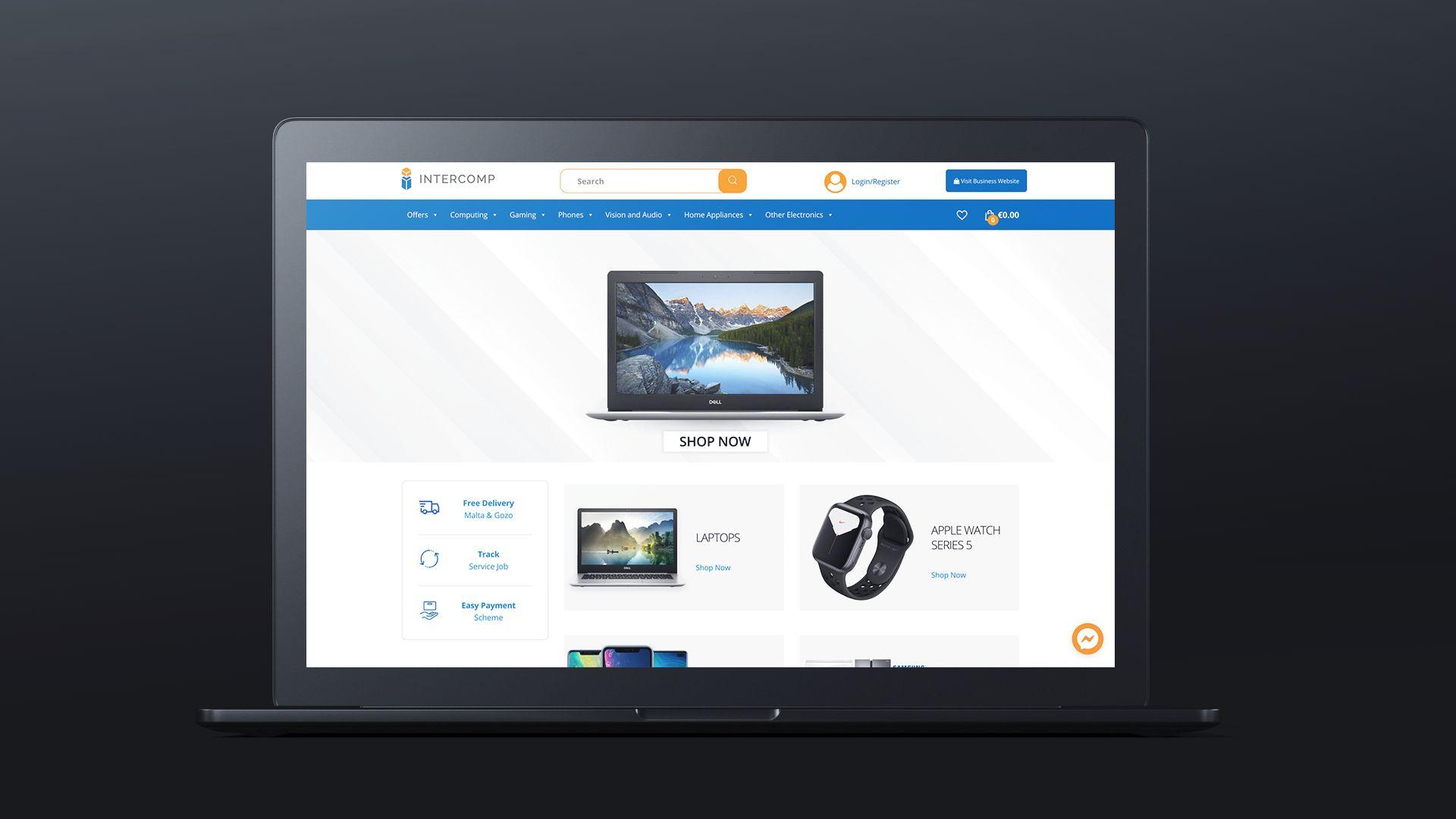 intercomp eCommerce website