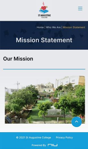 corporate website for a school