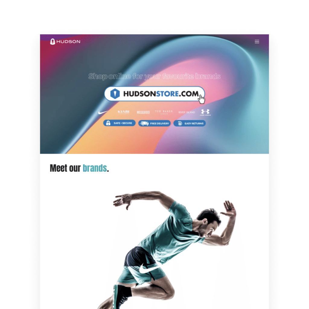 corporate website development - meet our brands