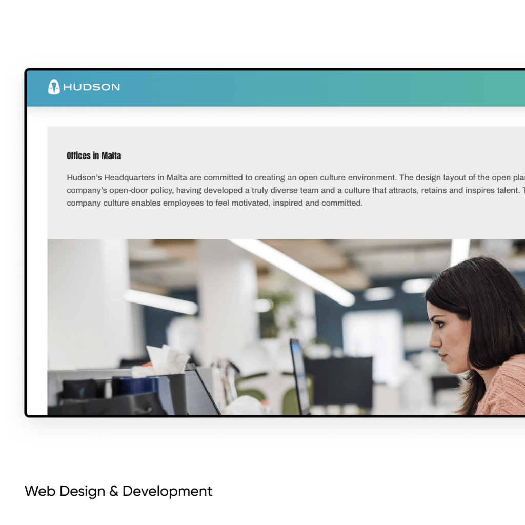 corporate website development offices