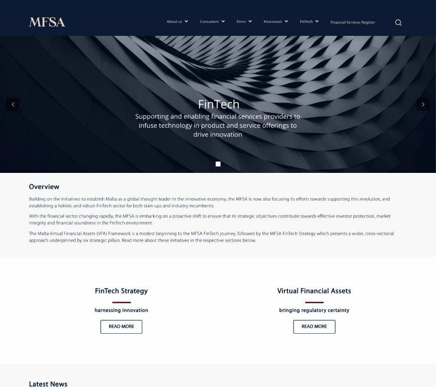 MFSA Fintech Banner