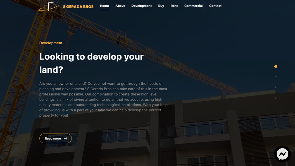 corporate website for property